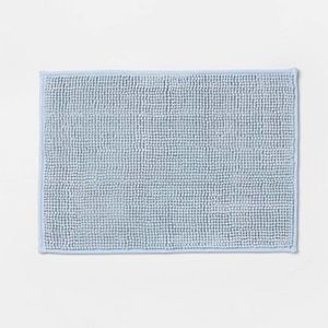 4 Made By Design Solid Bath Rugs, Light Blue